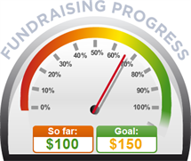Fundraising Amount=$100.00 ; Goal=$150.00