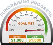 Fundraising Amount=$1,000.00 ; Goal=$1,000.00