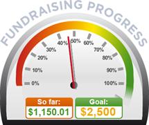 Fundraising Amount=$1,150.01 ; Goal=$2,500.00