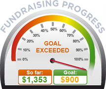 Fundraising Amount=$1,353.00 ; Goal=$900.00