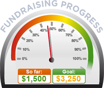Fundraising Amount=$1,500.00 ; Goal=$3,250.00