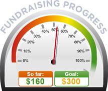 Fundraising Amount=$160.00 ; Goal=$300.00