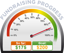 Fundraising Amount=$175.00 ; Goal=$200.00