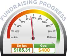 Fundraising Amount=$185.31 ; Goal=$400.00
