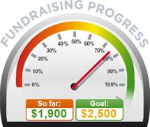 Fundraising Amount=$1,900.00 ; Goal=$2,500.00