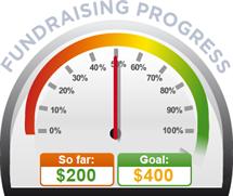 Fundraising Amount=$200.00 ; Goal=$400.00