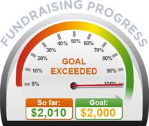 Fundraising Amount=$2,010.00 ; Goal=$2,000.00