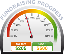 Fundraising Amount=$205.00 ; Goal=$500.00