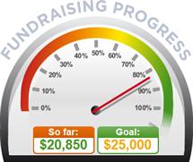Fundraising Amount=$20,850.00 ; Goal=$25,000.00