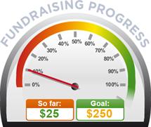 Fundraising Amount=$25.00 ; Goal=$250.00