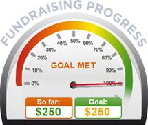 Fundraising Amount=$250.00 ; Goal=$250.00