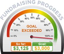Fundraising Amount=$3,125.00 ; Goal=$3,000.00