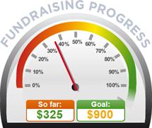 Fundraising Amount=$325.00 ; Goal=$900.00
