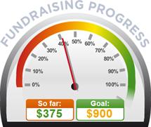 Fundraising Amount=$375.00 ; Goal=$900.00