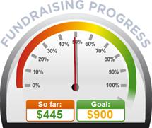 Fundraising Amount=$445.00 ; Goal=$900.00