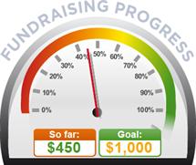 Fundraising Amount=$450.00 ; Goal=$1,000.00
