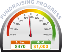 Fundraising Amount=$470.00 ; Goal=$1,000.00