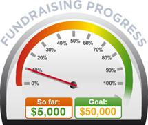Fundraising Amount=$5,000.00 ; Goal=$50,000.00