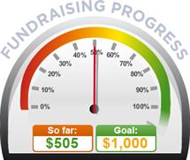 Fundraising Amount=$505.00 ; Goal=$1,000.00