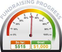 Fundraising Amount=$515.00 ; Goal=$1,000.00