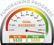 Fundraising Amount=$530.00 ; Goal=$500.00