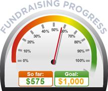 Fundraising Amount=$575.00 ; Goal=$1,000.00
