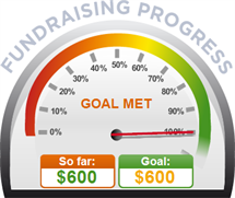 Fundraising Amount=$600.00 ; Goal=$600.00
