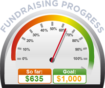 Fundraising Amount=$635.00 ; Goal=$1,000.00