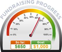 Fundraising Amount=$650.00 ; Goal=$1,000.00