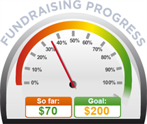 Fundraising Amount=$70.00 ; Goal=$200.00