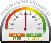 Fundraising Amount=$750.00 ; Goal=$1,500.00