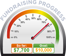 Fundraising Amount=$7,700.00 ; Goal=$10,000.00
