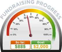Fundraising Amount=$885.00 ; Goal=$2,000.00