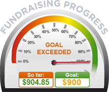 Fundraising Amount=$904.85 ; Goal=$900.00